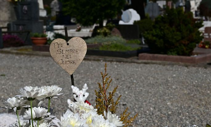 Friedhof in Bergamo, Italien