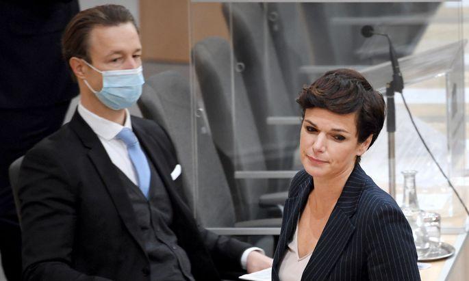 """SP-Chefin Pamela Rendi-Wagner sieht Gernot Blümels Budget als ein """"Manifest gebrochener Versprechen""""."""