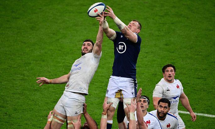 Frankreich gegen Schottland beim jüngsten Six Nations Rugby-Turnier.