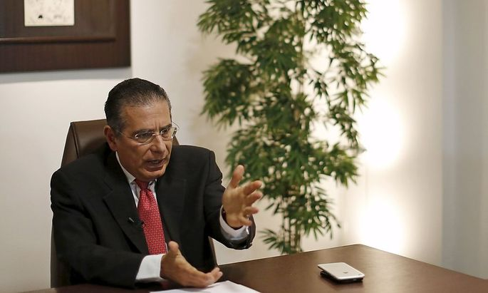 Ramon Fonseca, founding partner of law firm Mossack Fonseca, speaks during an interview with Reuters at his office in Panama City