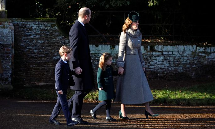 Royal Family´s Christmas Day service on the Sandringham estate in eastern England