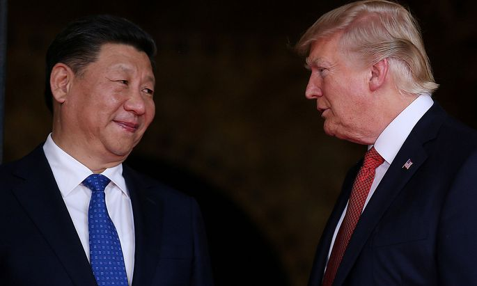 Xi Jinping und Donald Trump.