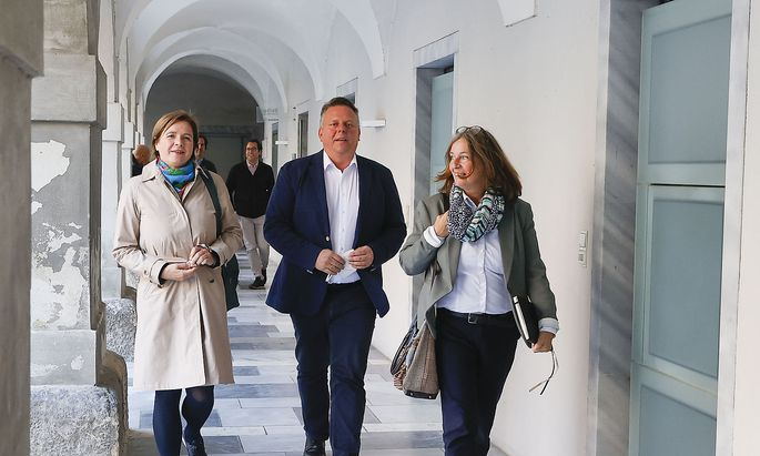 Judith Schwentner, Michael Ehmann und Elke Kahr (von links) wollen zusammenarbeiten.