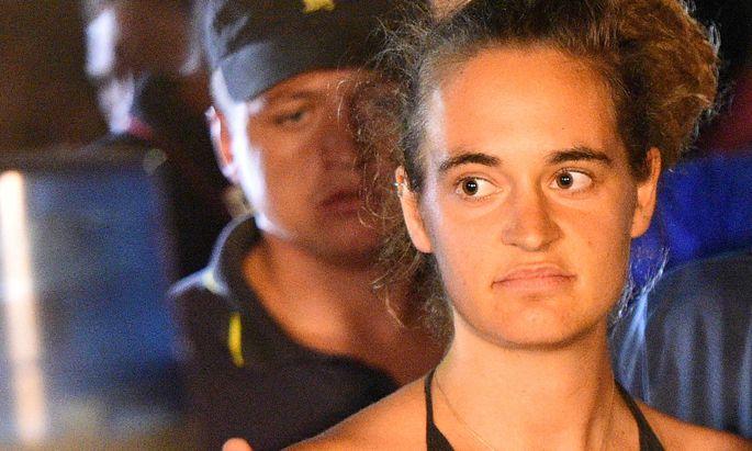 Kaptänin Rackete forderte eine unkompliziert Aufnahme von Flüchtlingen gefordert