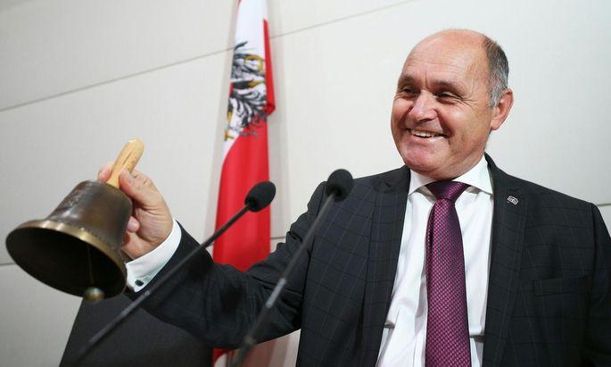 Wolfgang Sobotka in der konstituierenden Sitzung im Hohen Haus