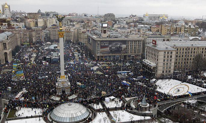 Archivbild vom 8. Dezember 2013 am Maidan in Kiew.