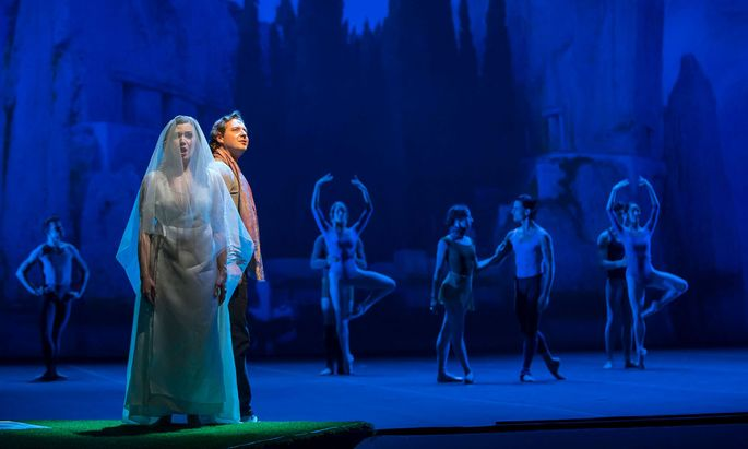 Hier paaren sich tänzerische und stimmliche Ausdruckskraft: Dmitry Korchak und Andriana Chuchman als Orpheus und Eurydice.