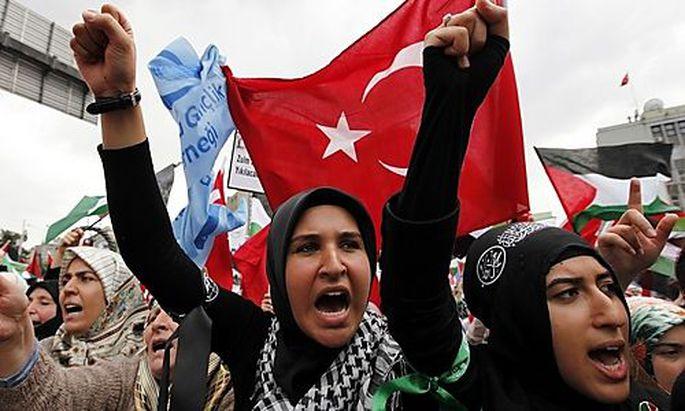 Demonstration gegen Israel in der Türkei