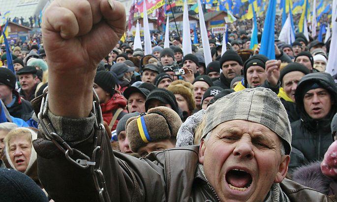 Proteste am Maidain vor einem Jahr.