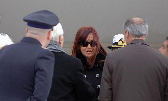 Cristina Fernandez de Kirchner bei ihrer Ankunft am Flughafen Ciampino in Rom.