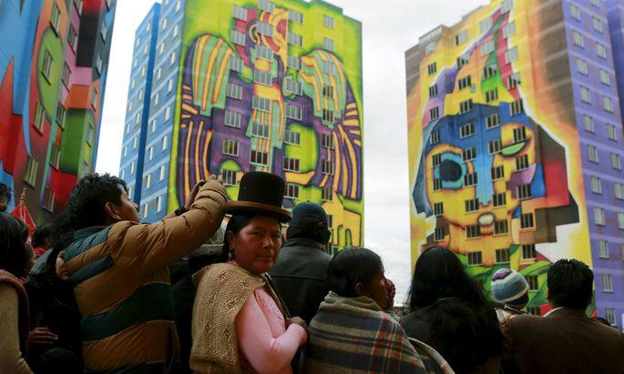 Die Architektur von Freddy Mamani prägt El Alto.