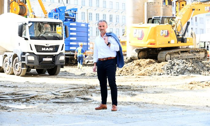 Bernhard Jarolim, seit dem 1. August der neue Wiener Stadtbaudirektor – und damit Herr vieler Baustellen.