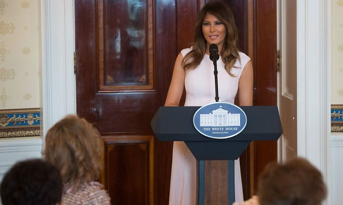 Melania Trump sprach zu Ehepartnern von US-Gouverneuren.