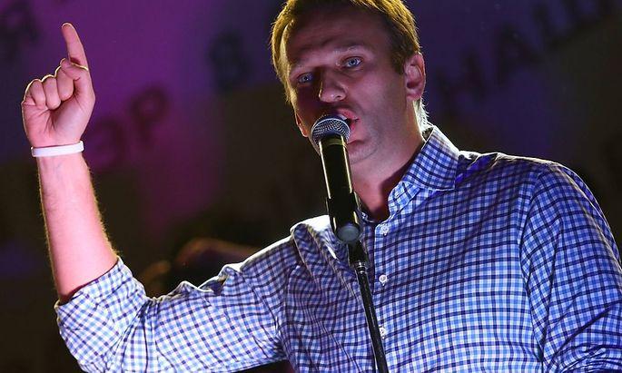 Alexej Nawalny gibt nicht klein bei. Er fordert eine Stichwahl um das Amt des Moskauer Bürgermeisters.