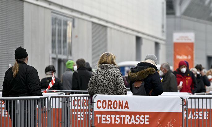CORONA: BEGINN DER MASSENTESTS IN WIEN