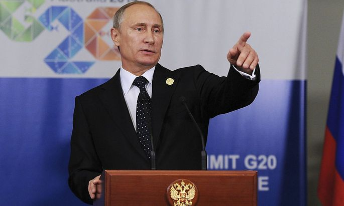 Hier geht's zur Tür: Russland wies als Retourkutsche polnische Diplomaten aus (das Bild zeigt Russland Präsidenten Wladimir Putin auf dem G20-Gipfel in Brisbane)