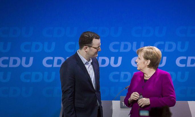 CDU unterhaelt sich mit Jens Spahn designierter Gesundheitsministe