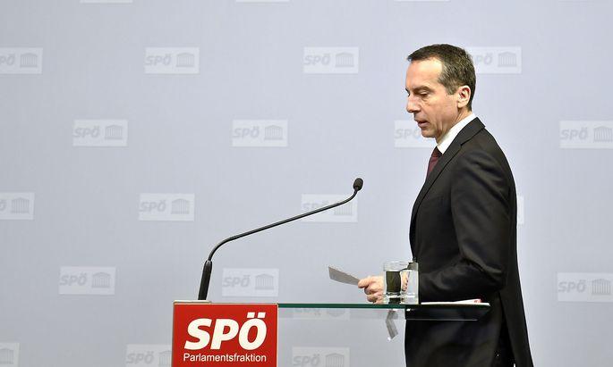 """Christian Kern sieht Österreichs lieber bei """"den Macrons und den Merkels""""."""