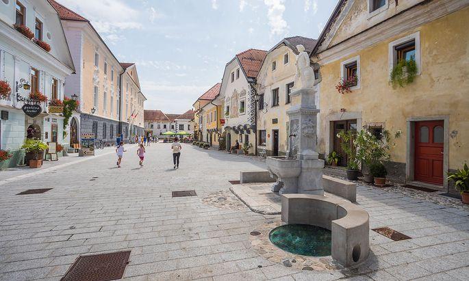 Radovljica und sein Linhart-Platz: Es ist lauschig und nicht so überlaufen wie Bled.