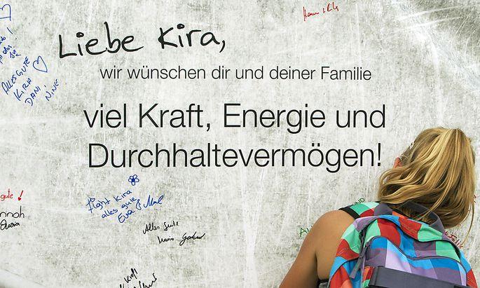 Genesungswünsche an Kira Grünberg