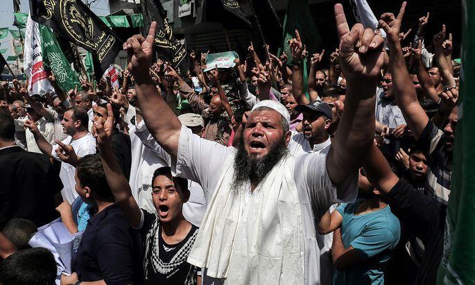 Vor den Zugängen zur Altstadt Jerusalems ist die Wut der Palästinenser groß.