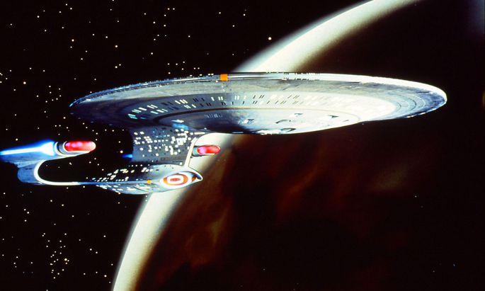 """Enterprise forever? Das """"Star Trek""""-Raumschiff im """"Next Generation""""-Design der 1980er."""