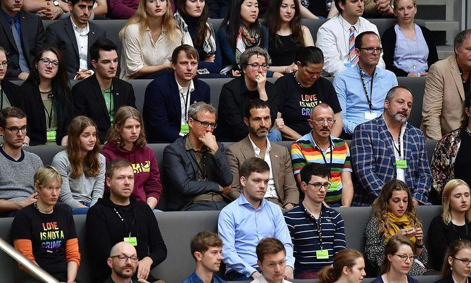 Besucher im deutschen Bundestag
