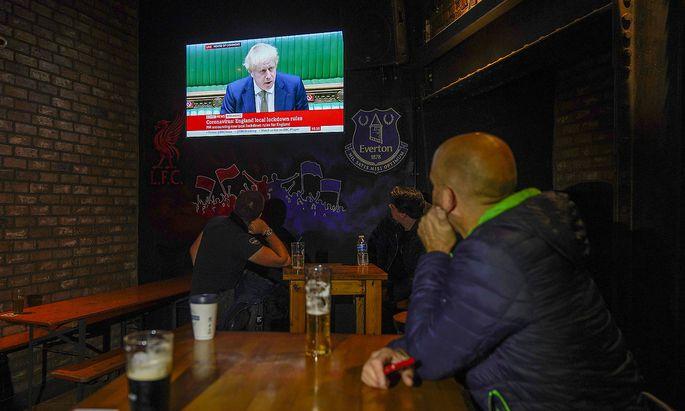 Eine TV-Ansprache Boris Johnsons