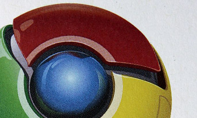 The logo for the Google Chrome Web browser is shown during a news conference at Google Inc. headquart
