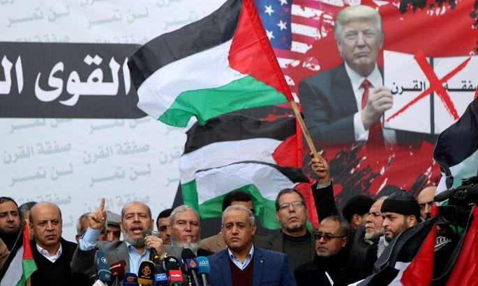 """Führende Hamas-Vertreter werten Trumps """"Deal des Jahrhunderts"""" als feindlichen Deal"""