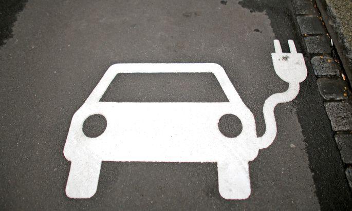 Parkplatz f�r Elektroautos