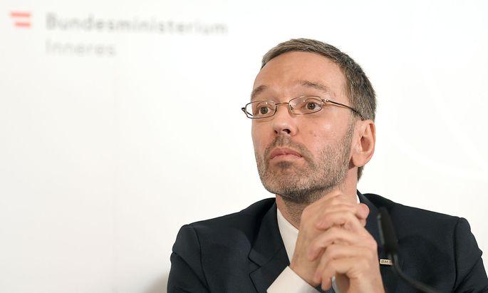 Archivbild: Innenminister Herbert Kickl