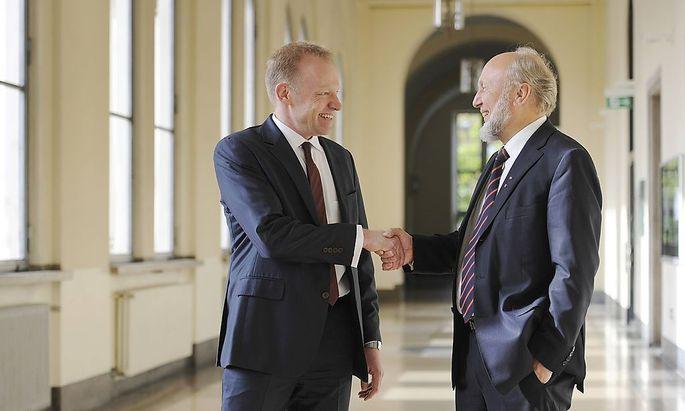 Amtsübergabe: Clemens Fuest mit Hans-Werner Sinn