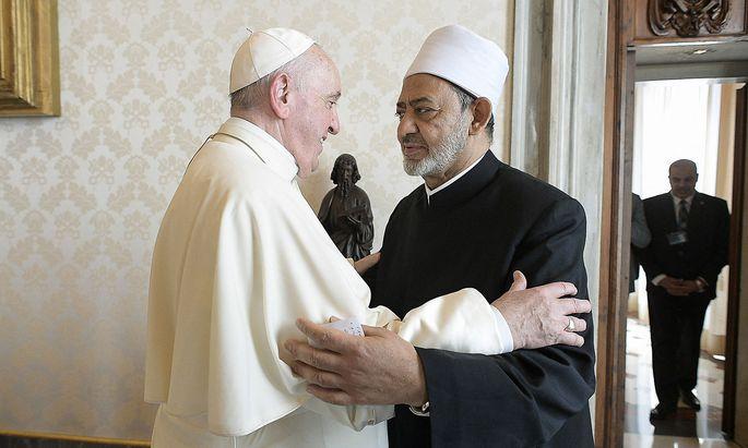 Papst Franziskus empfing am Montag den Großimam von al-Azhar im Vatikan.