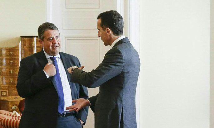 Bundeskanzler Christian Kern mit dem deutschen Vizekanzler und SPD-Chef Sigmar Gabriel.