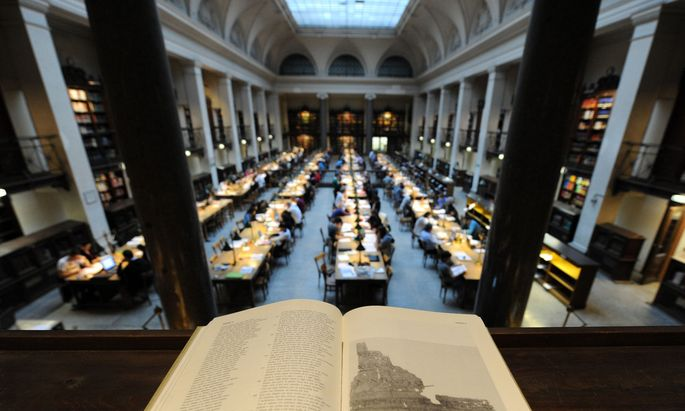 Großer Lesesaal der Hauptuni Wien