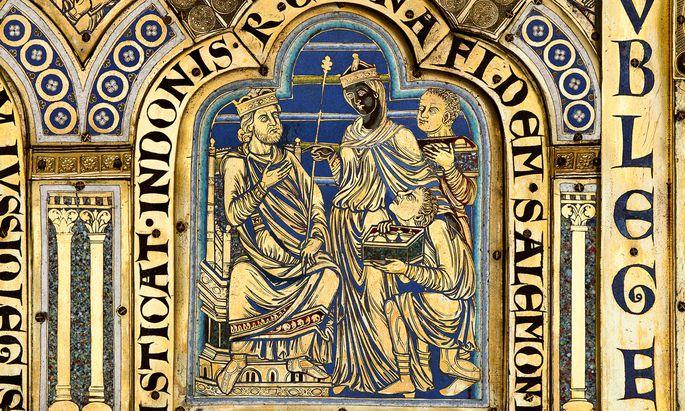 Im Jahre 1181 vollendete Nikolaus von Verdun die Klosterneuburger Altar-Bilder, deren eines die sagenhafte Königin von Saba erstmals in der Kunstgeschichte als Schwarze zeigt.
