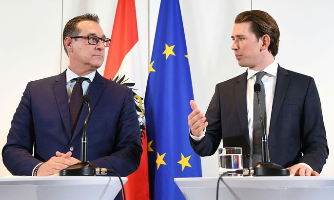FPÖ-Chef Strache und ÖVP-Obmann Kurz