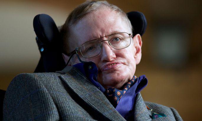 Physiker Stephen Hawking (1942–2018).