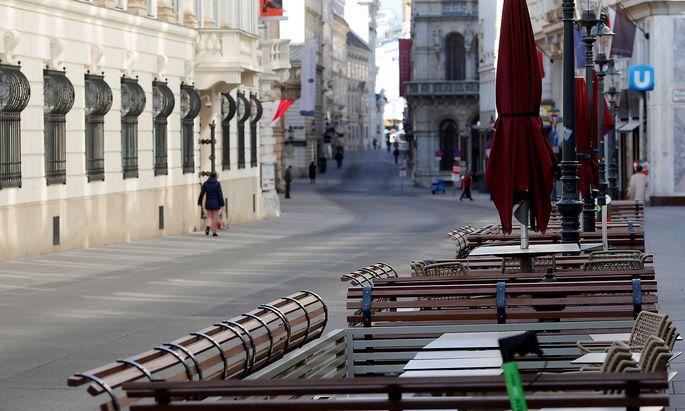 Am 16. März traten Ausgangsbeschränkungen in Kraft (im Bild die Wiener Innenstadt).