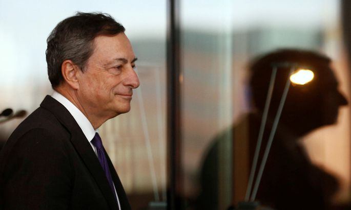 European Central Bank President Mario Draghi attends a meeting with German lawmakers in Berlin