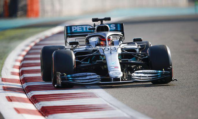 2019 Abu Dhabi December Testing YAS MARINA CIRCUIT, UNITED ARAB EMIRATES - DECEMBER 04: George Russell, Mercedes AMG F1