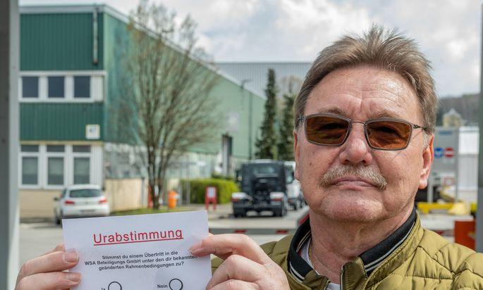 Der frühere MAN Steyr-Betriebsrat Erich Schwarz darf das Werksgelände nicht mehr betreten