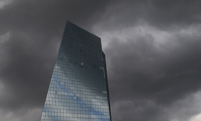 The new European Central bank (ECB) headquarters are pictured in Frankfurt