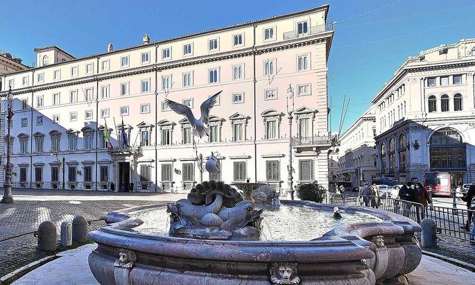 Palazzo Chigi, der Amtssitz der italienischen Regierung in Rom.