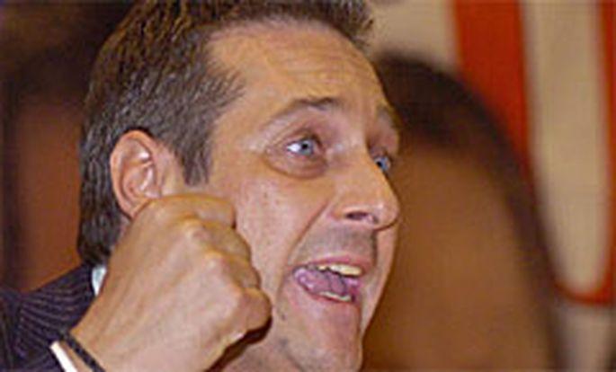 FPÖ-Bundesobmann Heinz-Christian Strache am Sonderparteitag der FPÖ Burgenland, 6. März 2007.