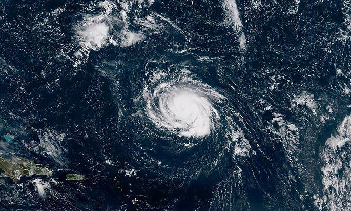 Hurricane Florence bewegt sich derzeit auf die Karibik zu.