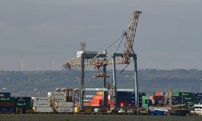 Belfast Harbour in der nordirischen Hauptstadt, wo eine Seegrenze entstanden ist, die für Verstimmung sorgt.