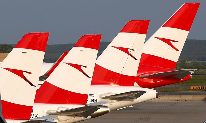 FILE PHOTO: Austrian Airlines planes pictured in Vienna