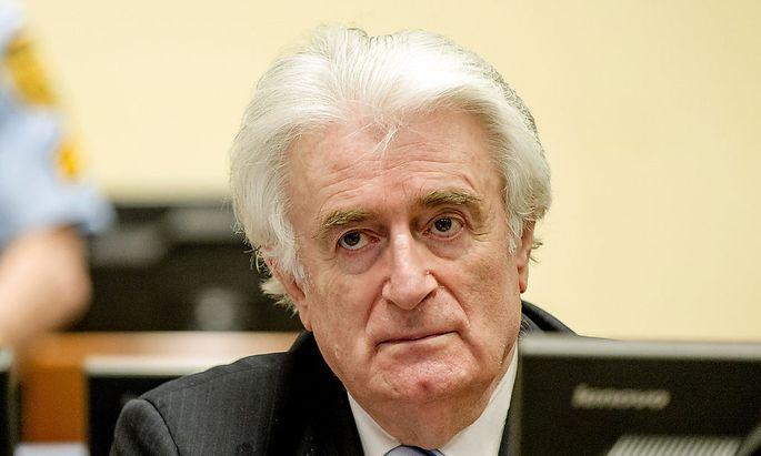 Radovan Karadzic kurz vor der Urteilsverkündung